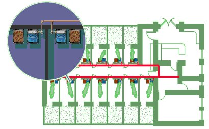 Nelson 1200 Series Stainless Steel Kennel Waterer Mounting Diagram